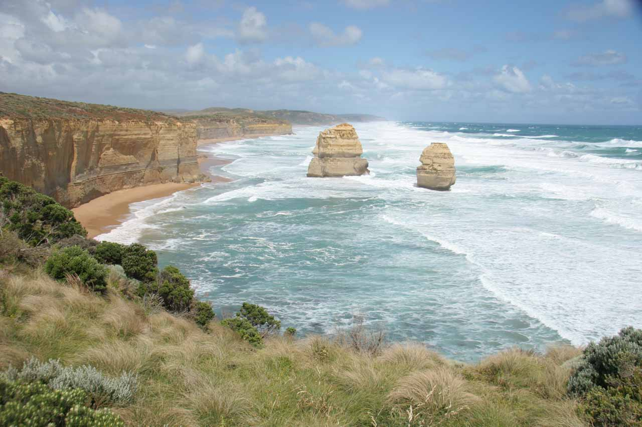 Looking in the opposite direction towards more Apostles