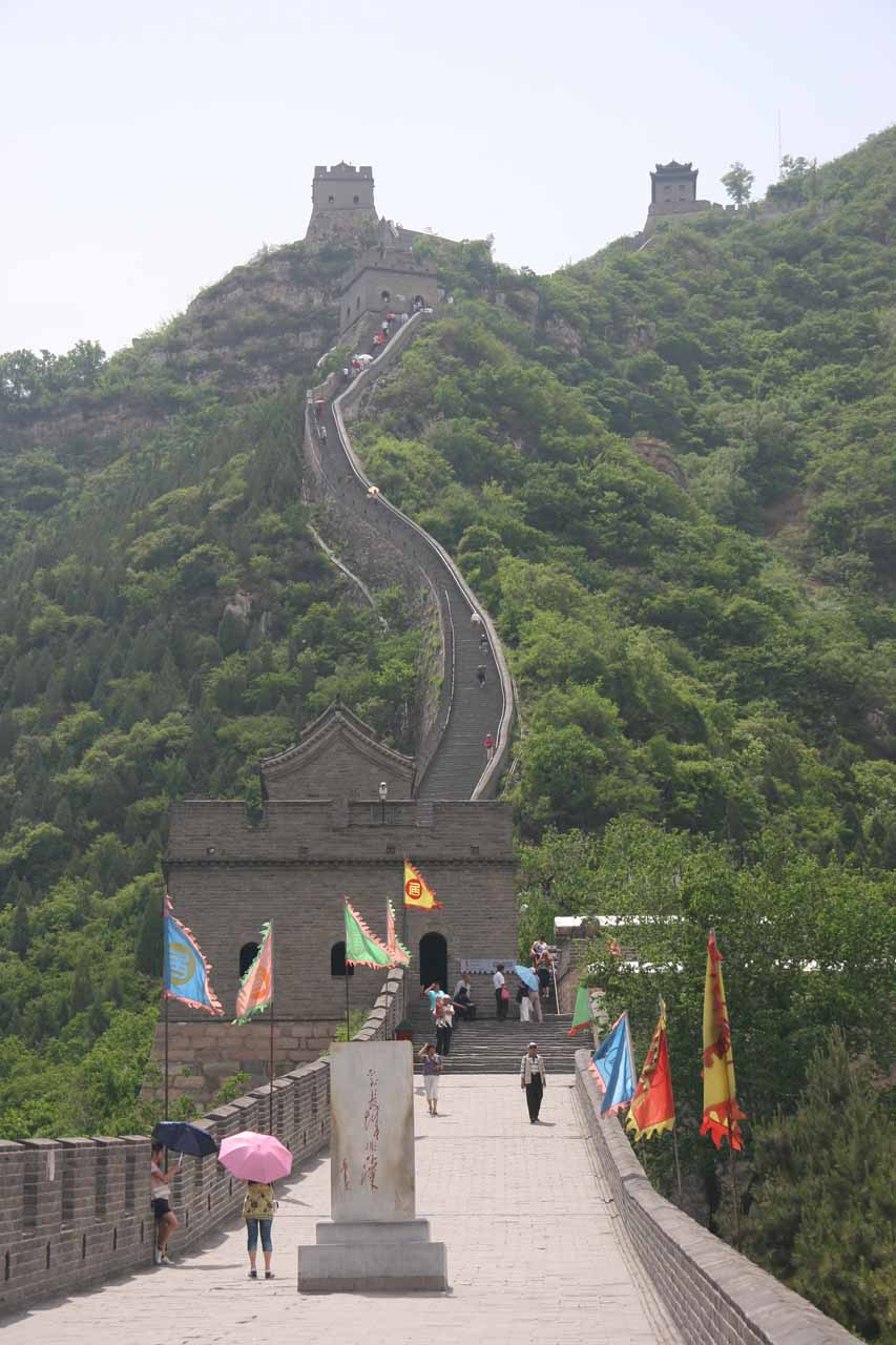 Start of the long climb up the Juyongguan part of the Great Wall