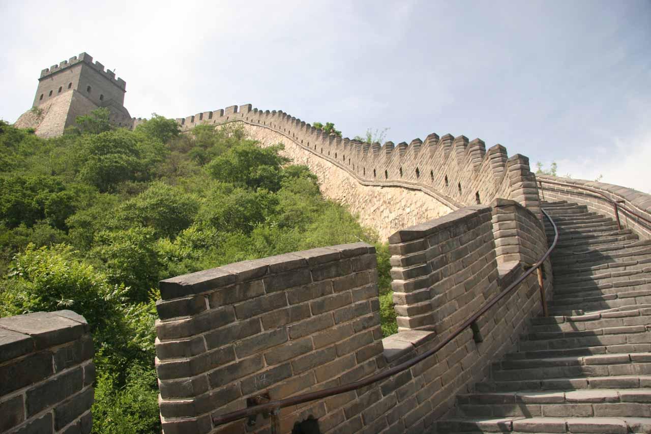 Looking up at more climbing to do at Juyongguan