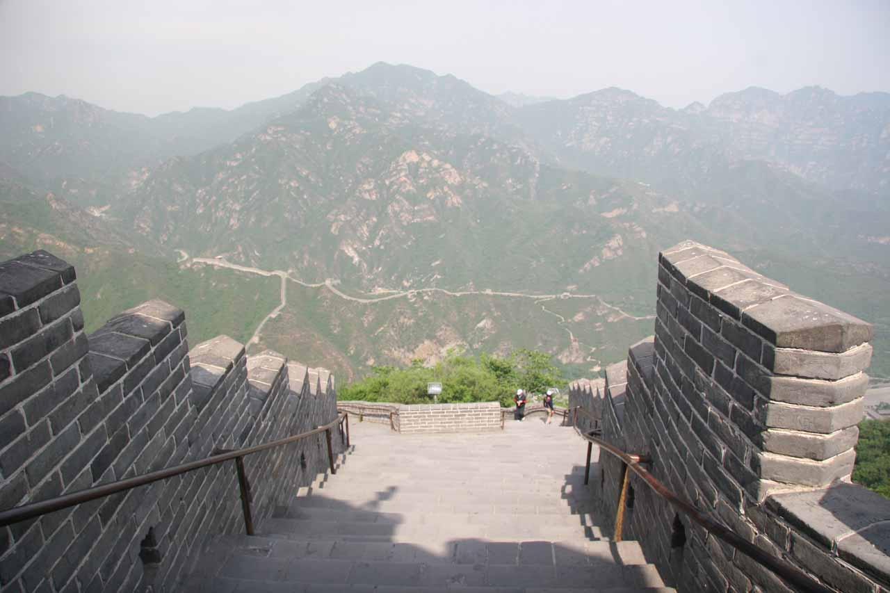 At the summit of the Juyongguan section of the Great Wall