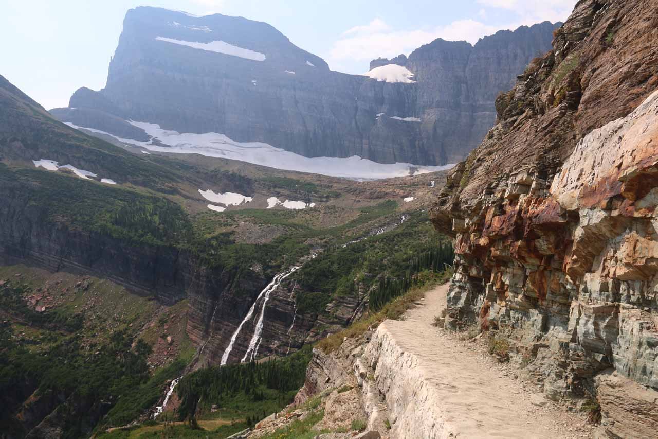 This was one of the narrower ledges on the Grinnell Glacier Trail