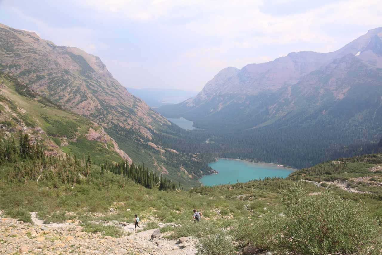 After having my fill of Grinnell Glacier, it was time to go back down the long trail