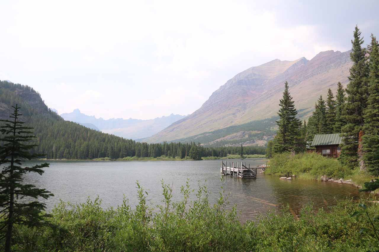 Finally making it to the southeastern shores of Swiftcurrent Lake