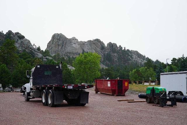 Grizzly_Bear_Falls_006_07302020 - This was the trailhead parking for the Blackberry Trail, but it was completely reserved and occupied by workers at Mt Rushmore so it was definitely off limits to vehicles from the public