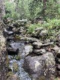 Grizzly_Bear_Falls_008_iPhone_07302020 - This was how the iPhone saw the bouldery cascade beyond the pool obstacle on Grizzly Bear Creek