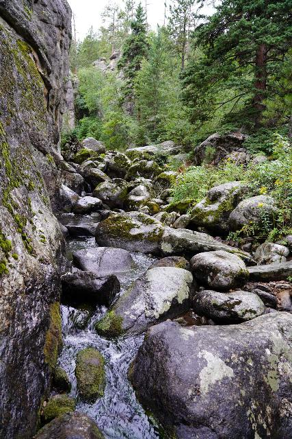 Grizzly_Bear_Falls_076_07302020 - This jumble of boulders on Grizzly Creek was where the USGS Topo Survey claimed where Grizzly Bear Falls was supposed to be