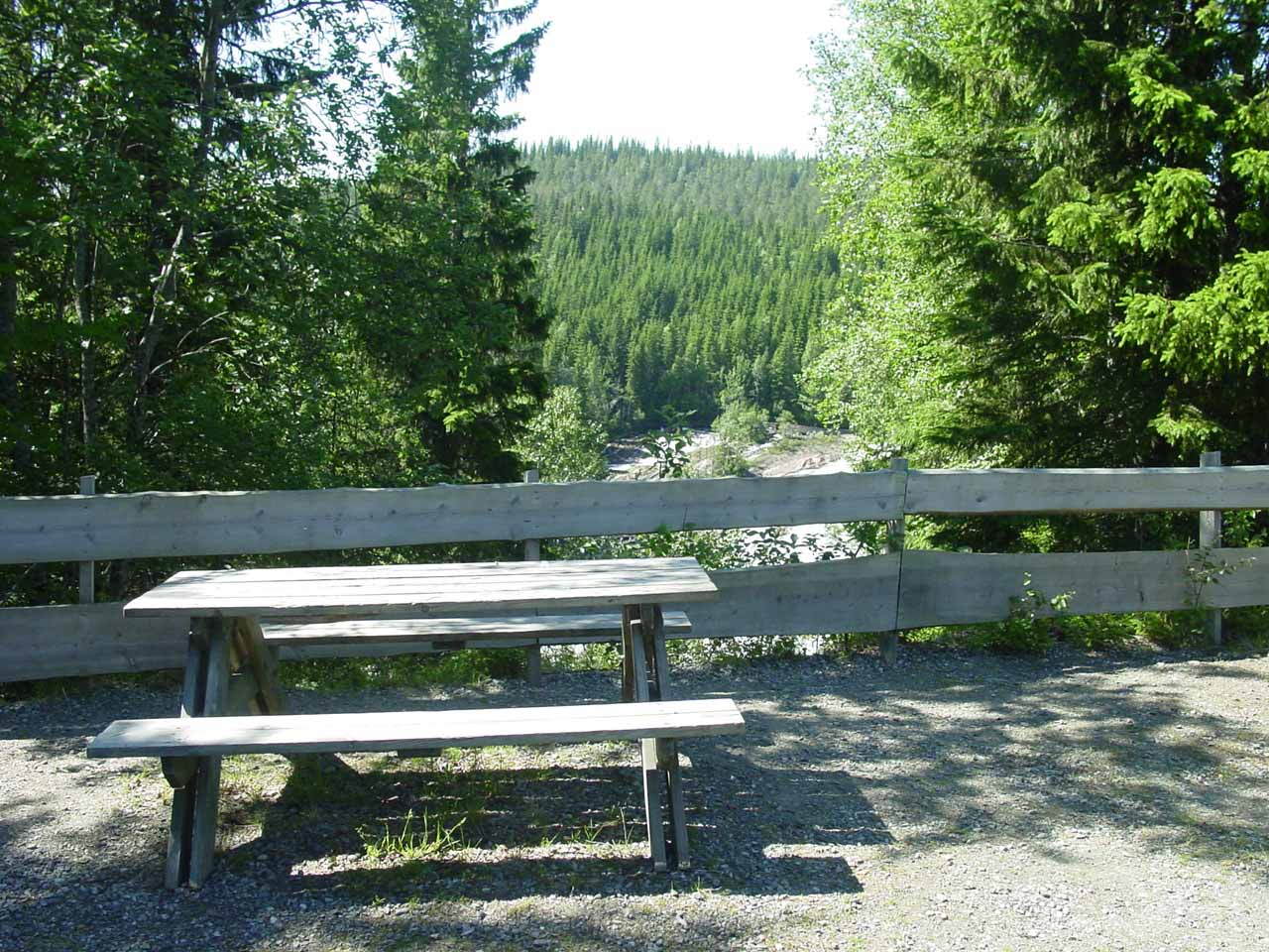 The picnic table we didn't use