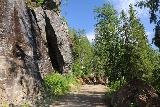 Gronligrotta_097_07092019 - Hiking back along the trail towards the reception and car park for the Gronligrotta