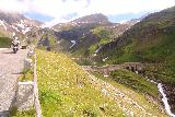 Grossglockner_140_07122018 - Context of the roadside pullout while looking ahead towards a cascade downstream from a dam wall just downstream of the Nassfeld Waterfall