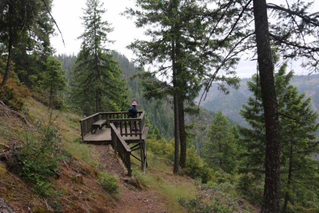 Grouse_Falls_024_05202016 - Mom standing atop the overlook deck for Grouse Falls