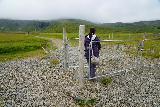 Grundarfoss_007_08172021 - Mom getting past the livestock gate at the start of the short hike to Grundarfoss