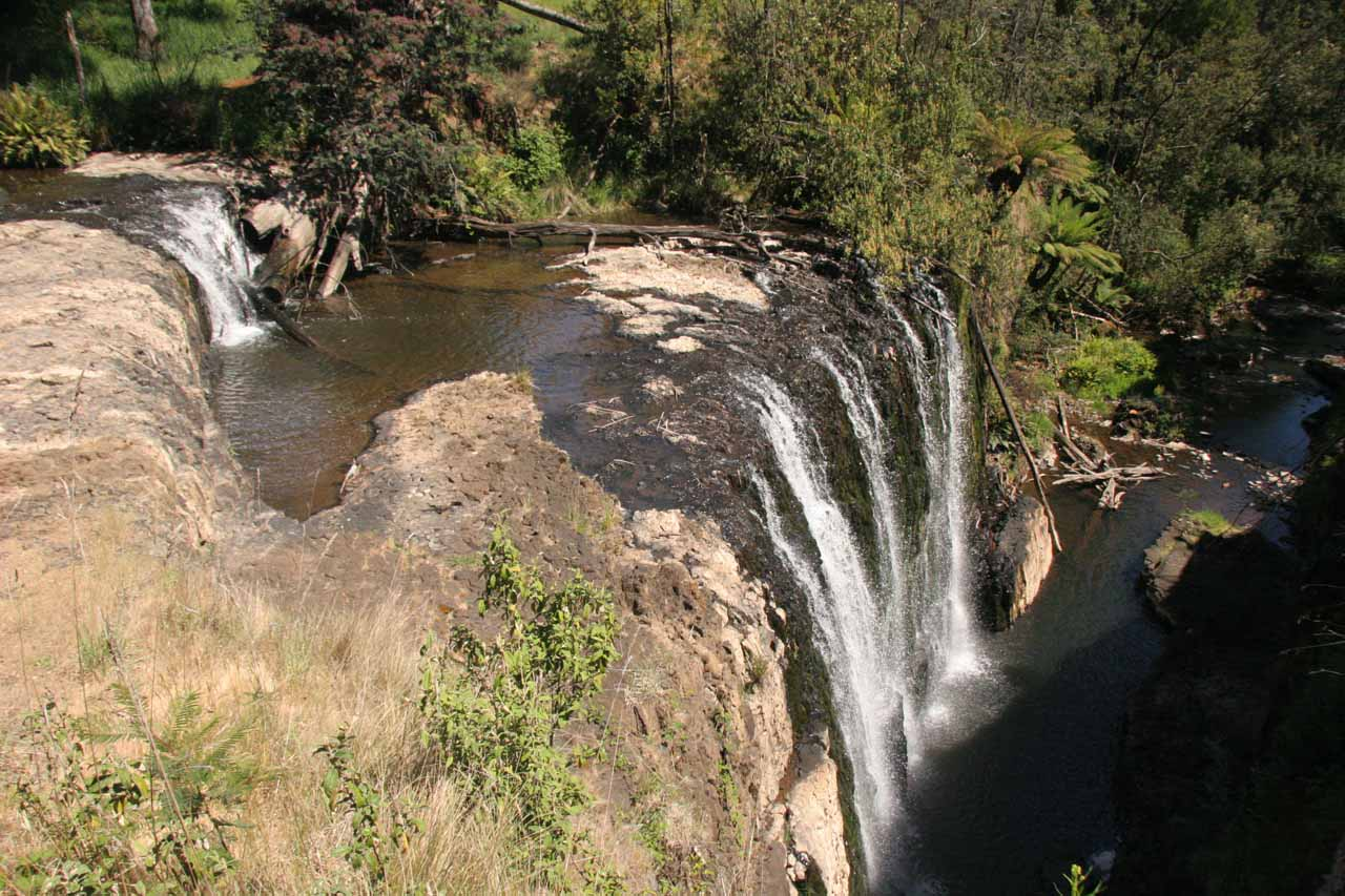 This was the profile view of Guide Falls from back in late November 2006 on a sunny afternoon in low flow