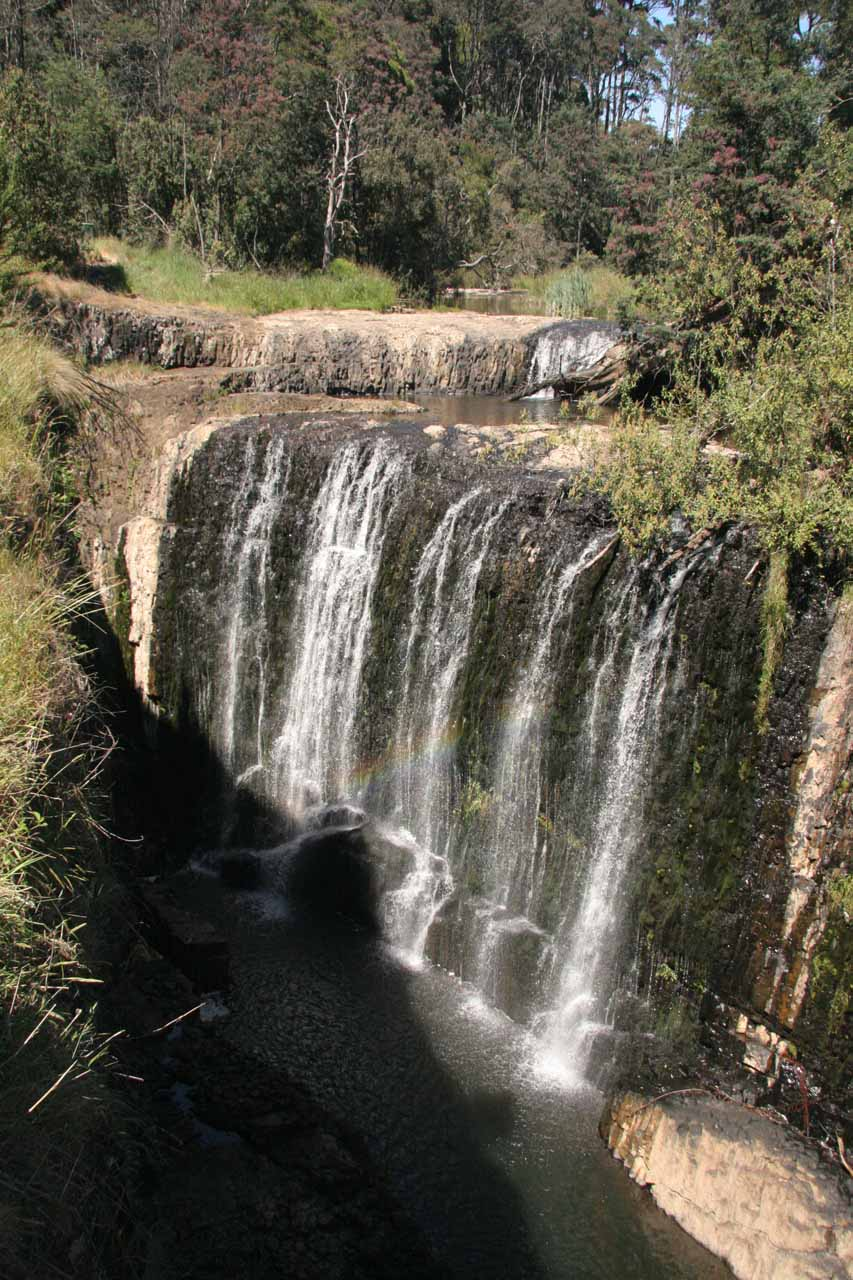 Looking directly at the top two tiers of Guide Falls from the overlook from our first visit in late November 2006
