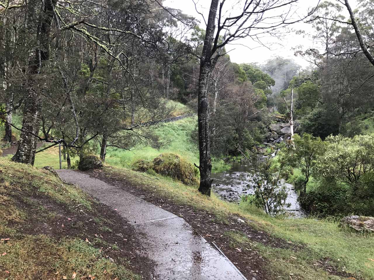 This was the walk along the Guide River from the lower car park up to the Guide Falls