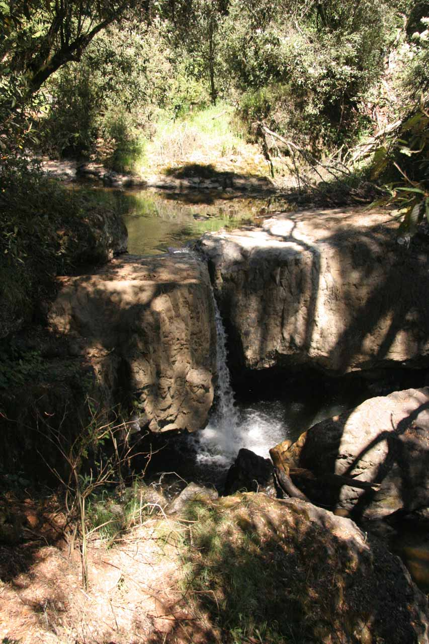 This was the same intermediate waterfall seen from that late November 2006 visit