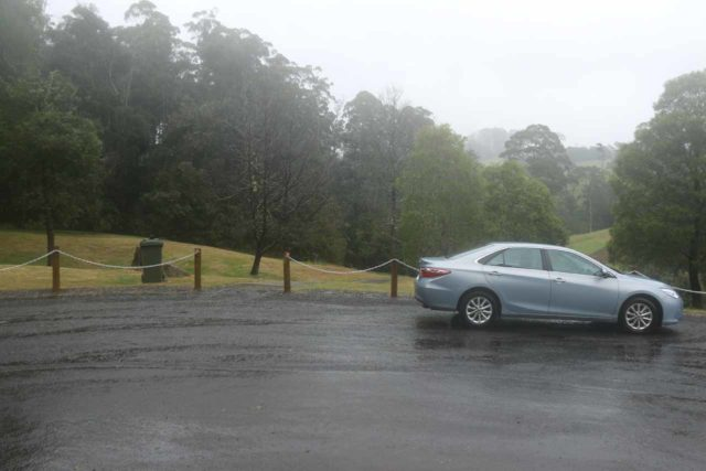 Guide_Falls_17_003_11302017 - Enduring a downpour at the upper car park for Guide Falls