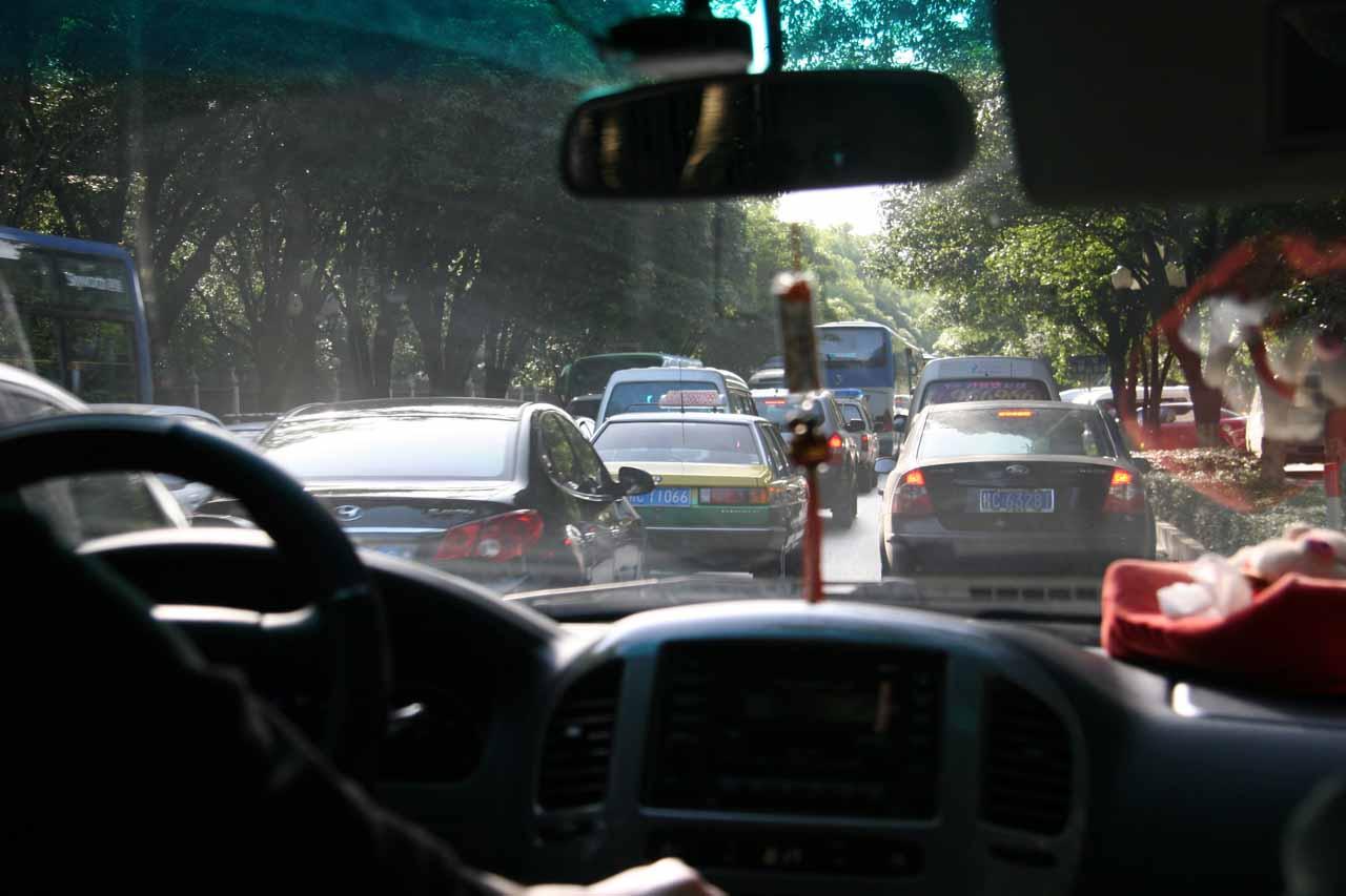 Traffic jam in Guilin