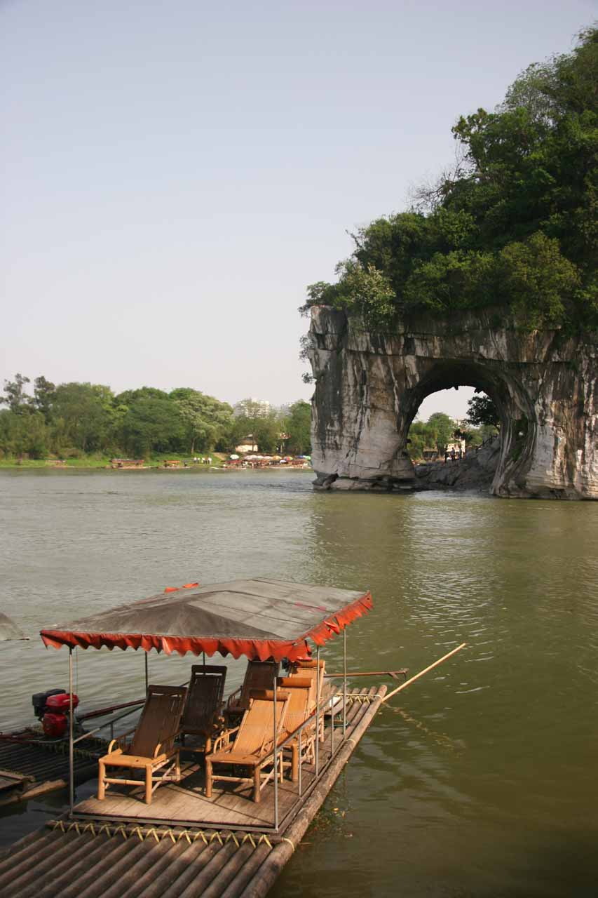 Another Guilin City attraction was the natural arch known as the Elephant Trunk Hill