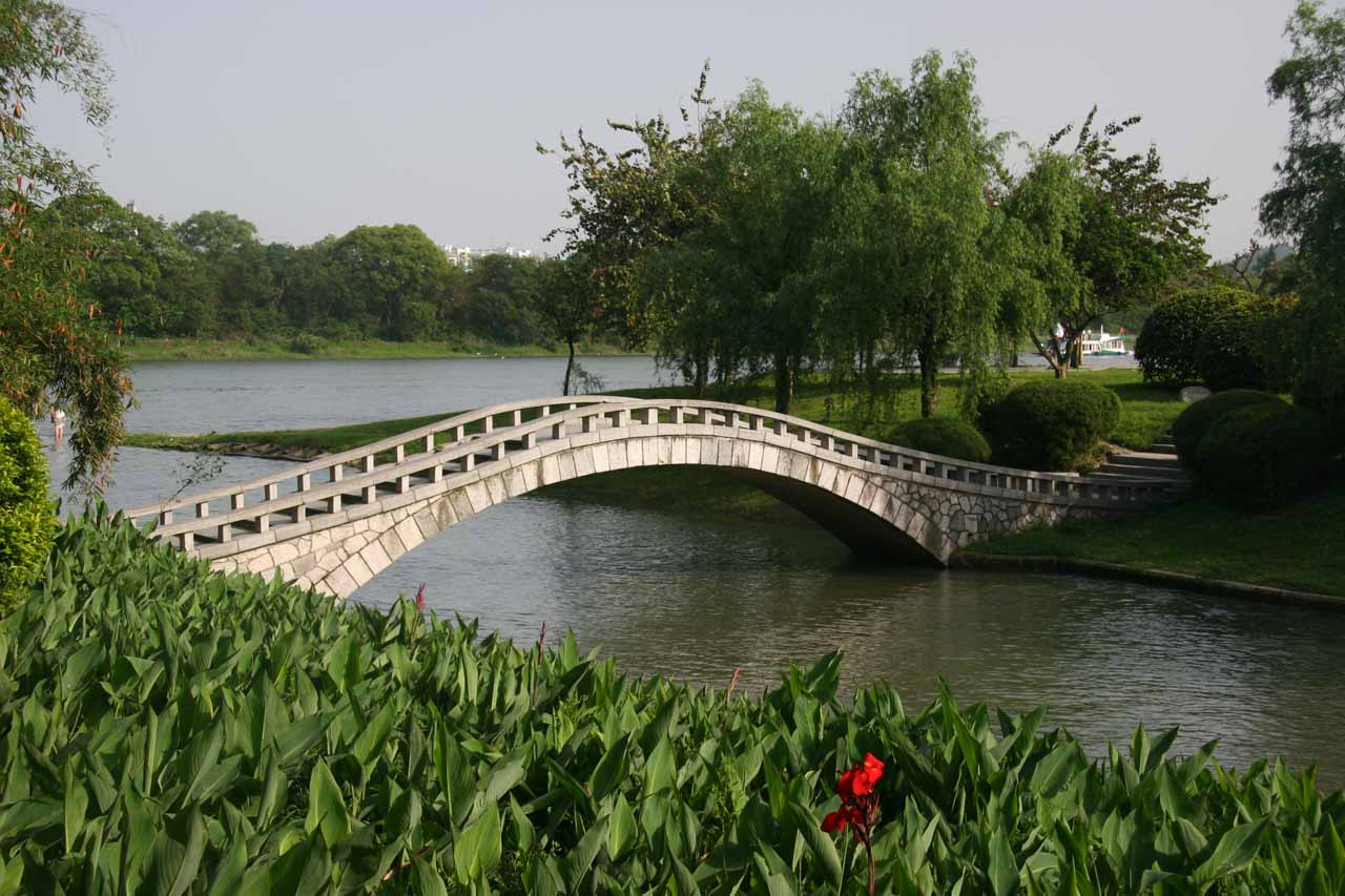 Arched bridge over a canal near Elephant Trunk Hill