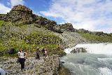 Gullfoss_072_08062021 - Context of the cliffs above the upper drop of Gullfoss