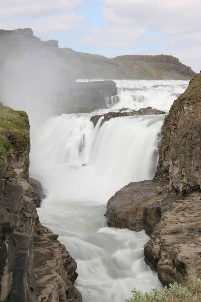 Unusual view of Gullfoss