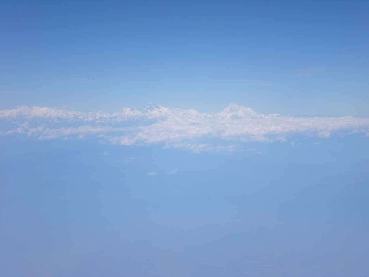 Mt Everest in the distance