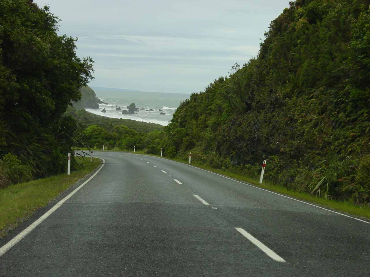 Sometimes driving the rural roads is a pleasure as we're treated to incredible scenery like the West Coast of the South Island of New Zealand shown here