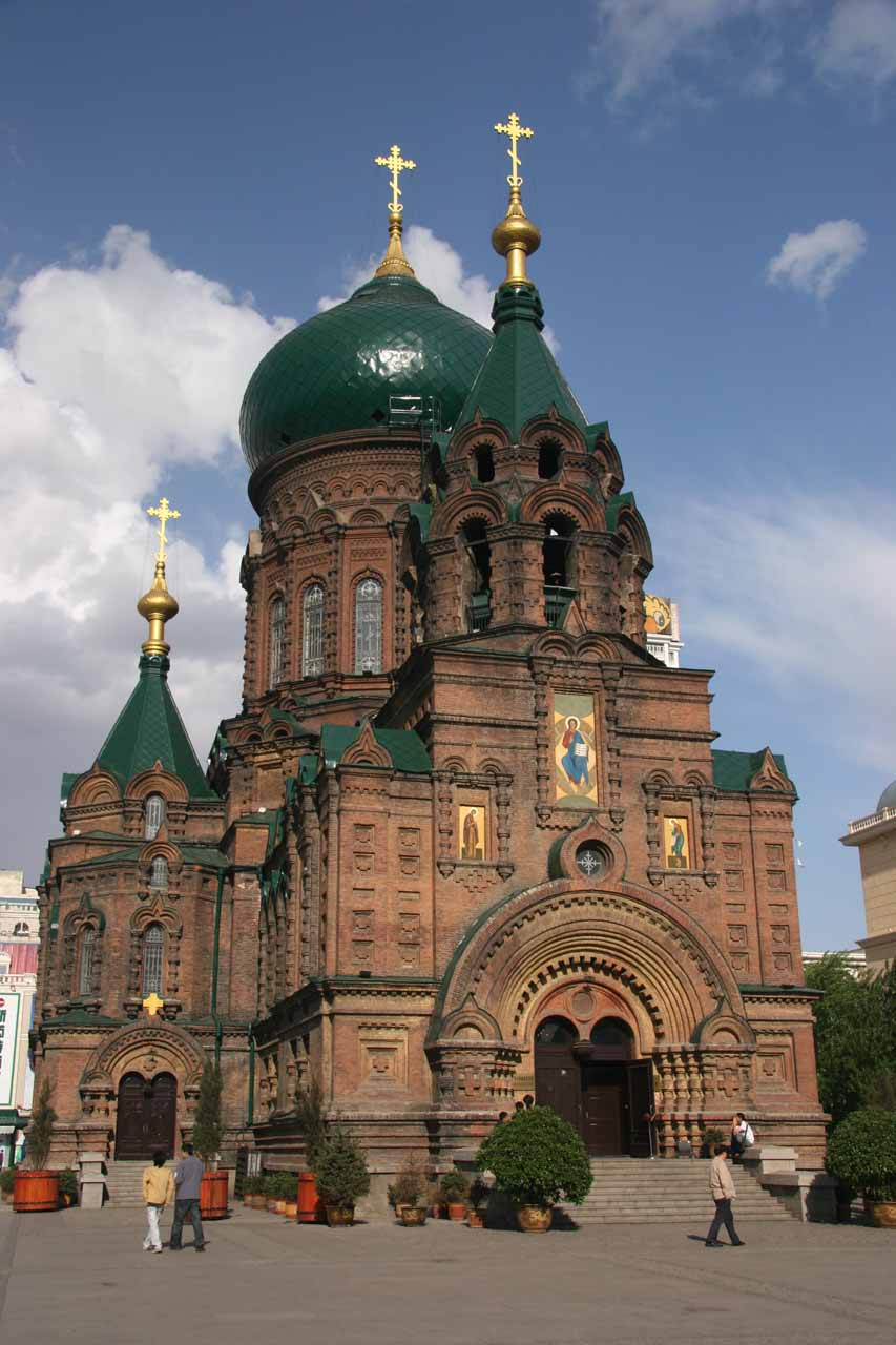 The church of St Sofia, which was a definite remnant of Russia's influence on the area