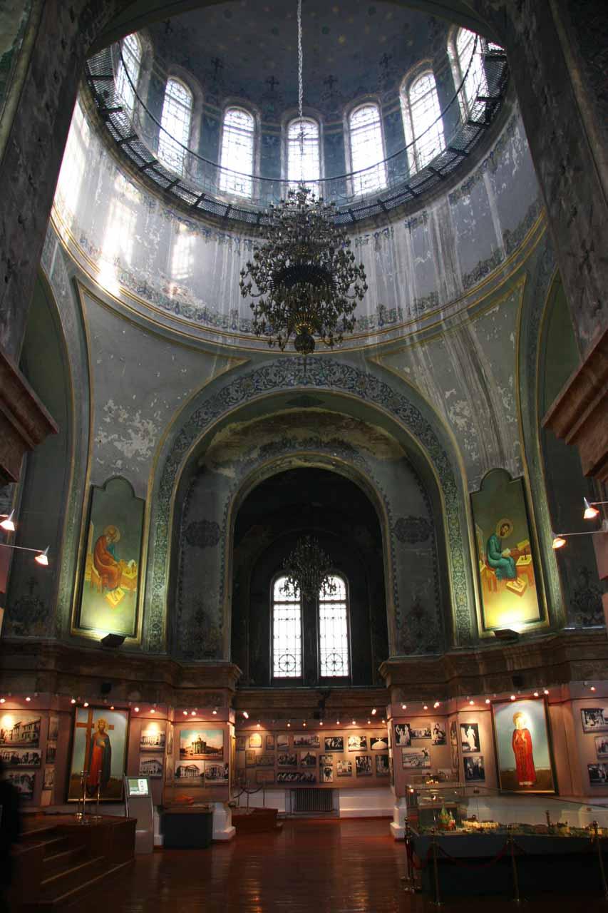 Inside the Church of St Sofia