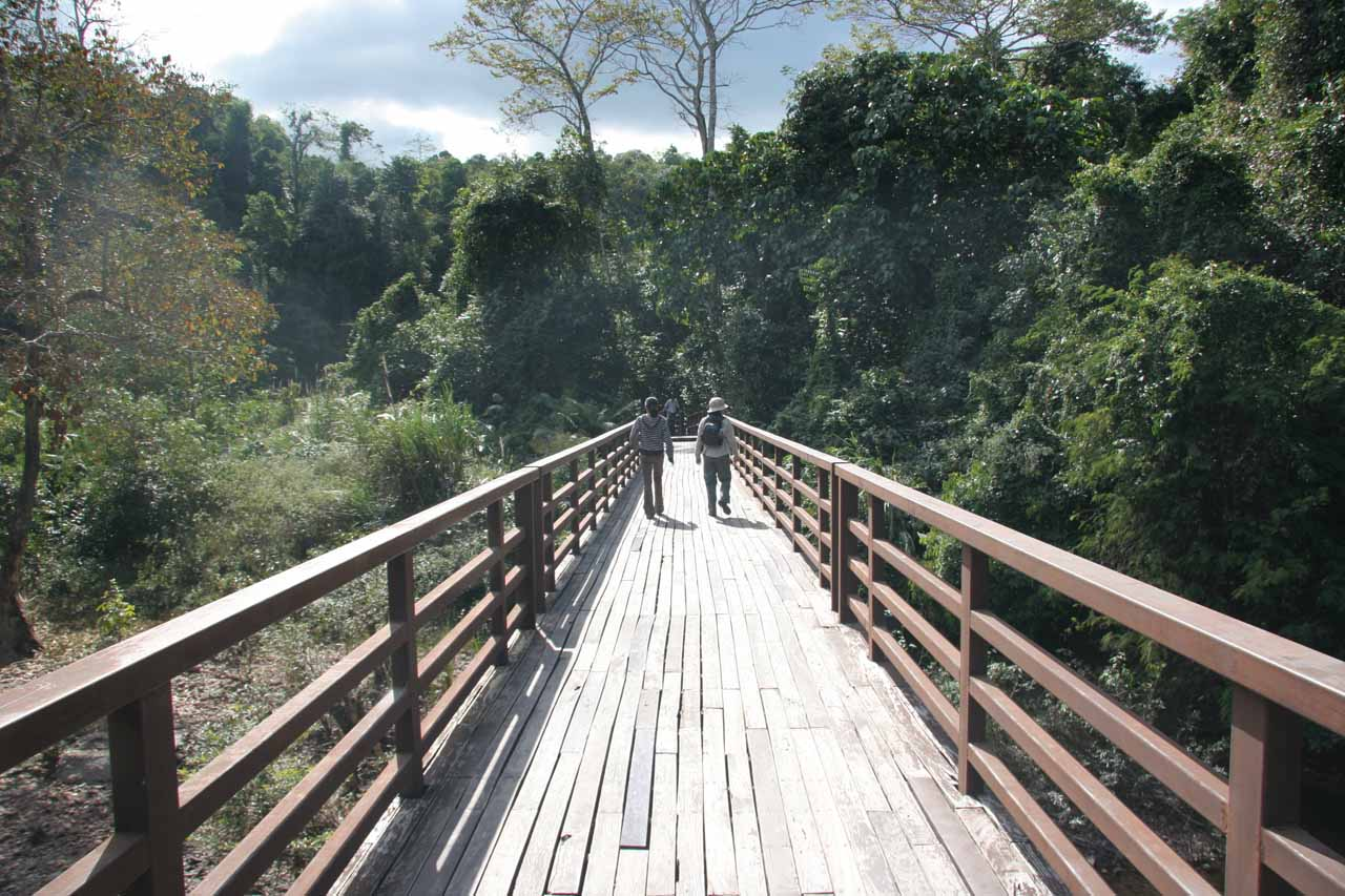 Walking to the Haew Narok Falls