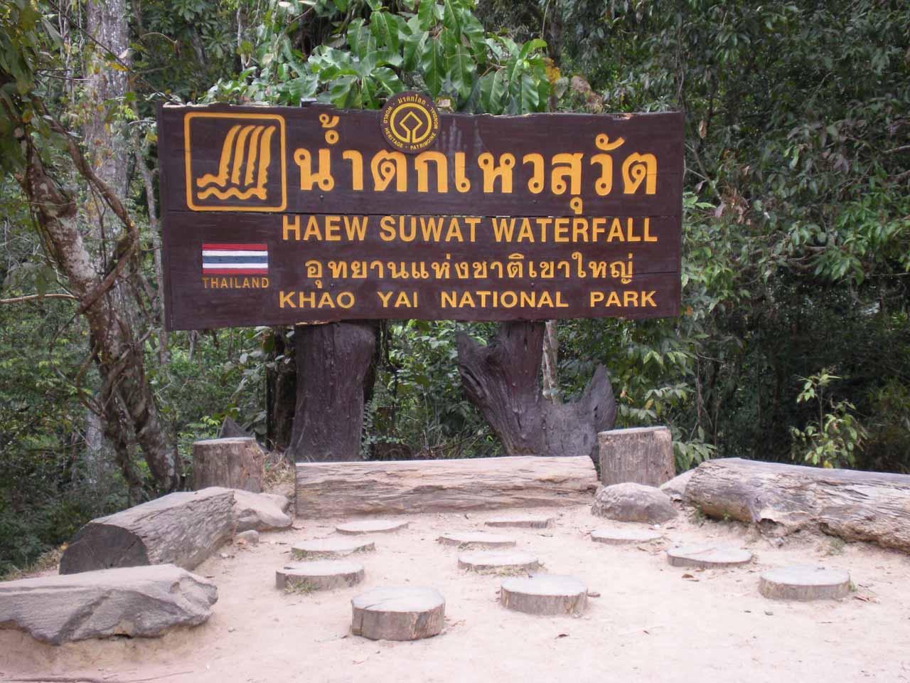 At the Haew Suwat Waterfall car park