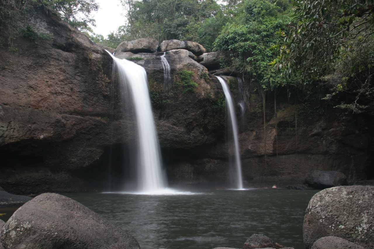 View of Haew Suwat Waterfall from its base