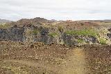 Hafragilsfoss_West_004_08132021 - Walking towards the cliffs overlooking the west side of Hafragilsfoss