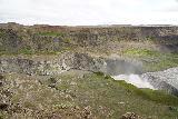 Hafragilsfoss_West_017_08132021 - Broad contextual look at the Jokulsargljufur Canyon with Hafragilsfoss feeding it as seen from the canyon's west side