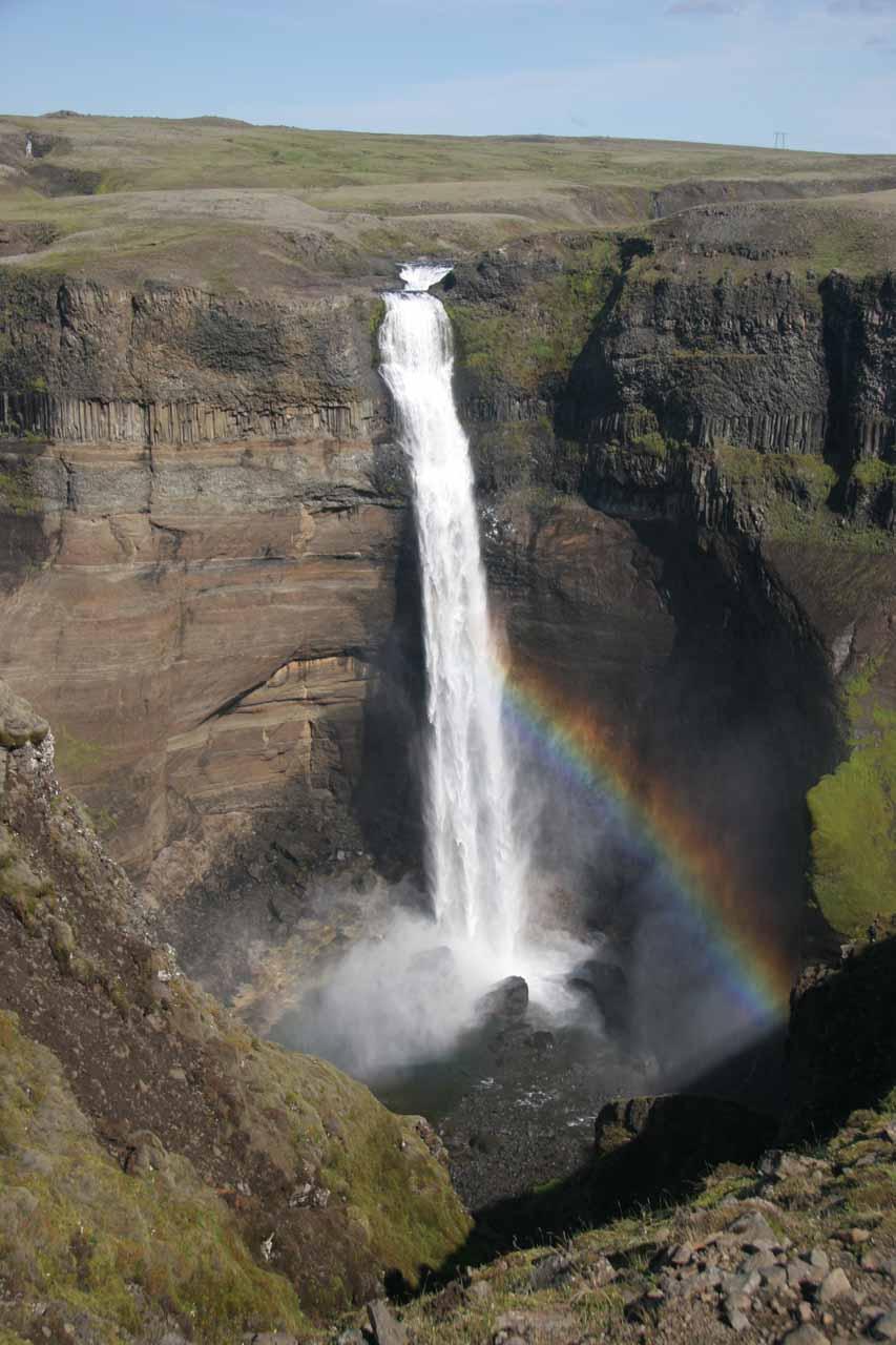 Just Háifoss and rainbow