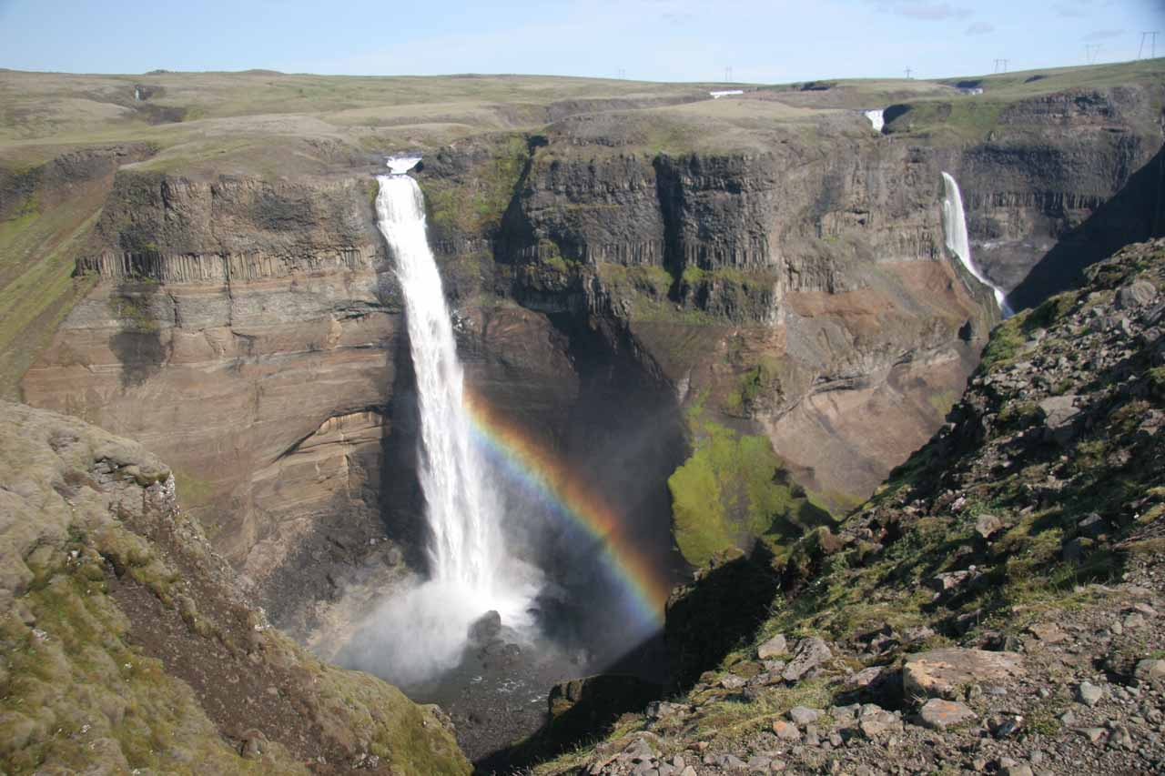 Haifoss on the left and Granni on the right