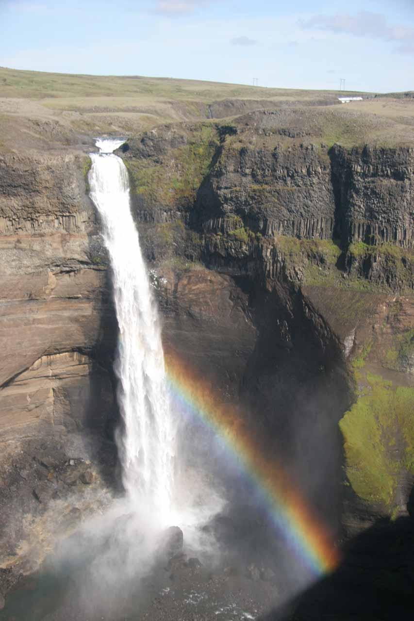 Háifoss and rainbow