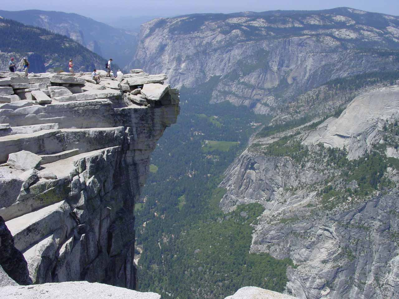 The Diving Board atop Half Dome, which was one of the quirky landmarks there. Near this spot was where it was possible to fight stomach butterflies and peer down at Snow Creek Falls