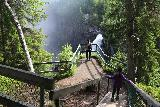 Hallingsafallet_024_07112019 - Descending to the first of the overlooks that we encountered for Hällingsåfallet