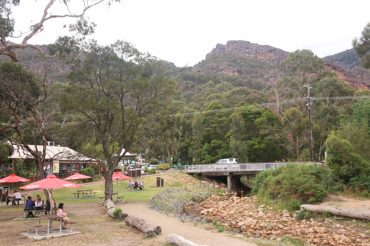 In the heart of the Grampians was the town of Halls Gap, which was an excellent base to explore the rugged scenery of the area