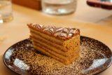 Hallstatt_686_07052018 - This was Julie's gluten free Esterhazy Torte served up by the Seehotel Gruner Baum in Hallstatt