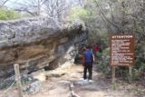 Hamilton_Pool_025_03122016 - Now the Hamilton Pool Trail passed besides these interesting rock formations beyond this warning sign