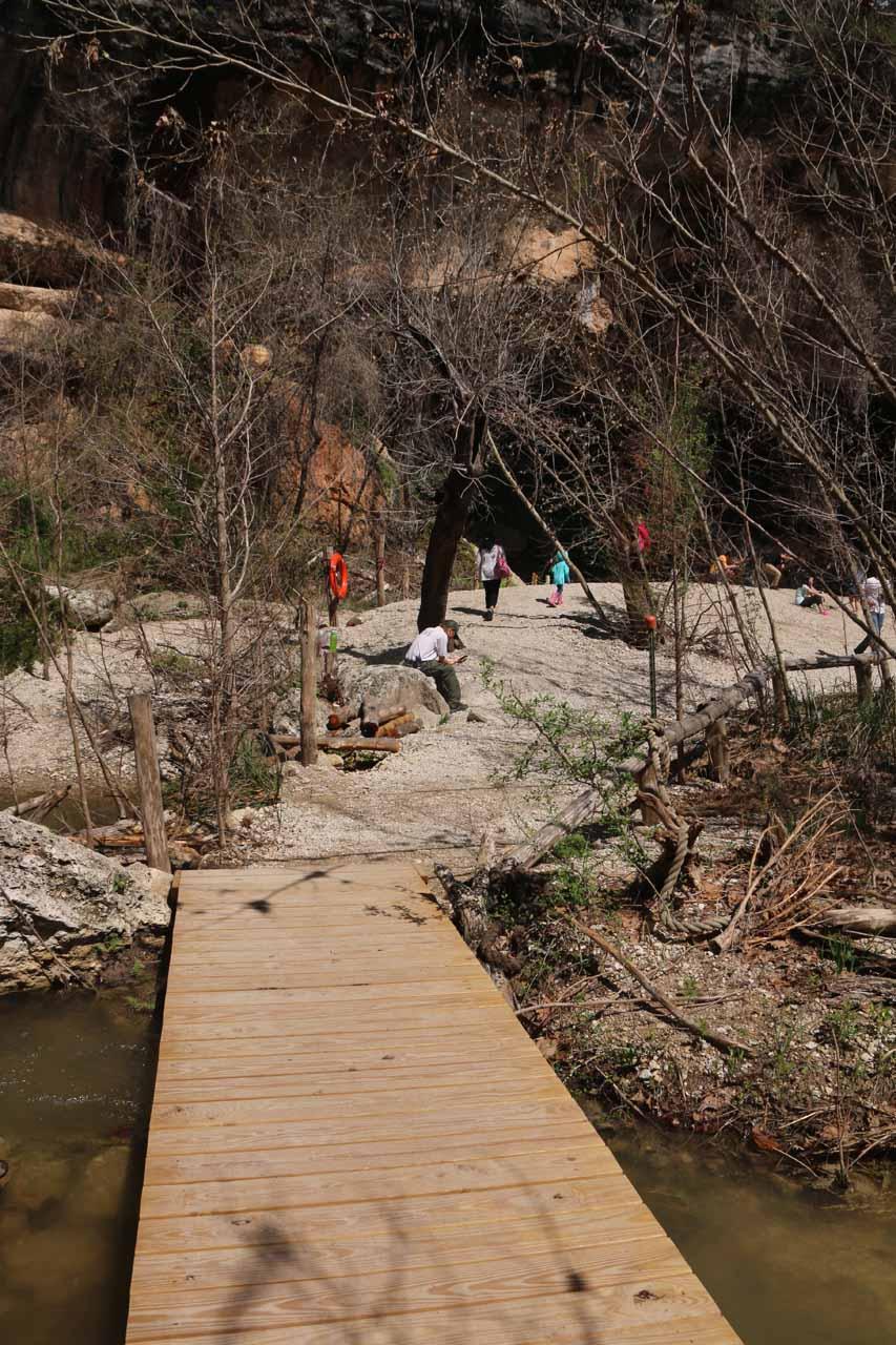 This footbridge over Hamilton Creek looked new