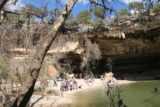 Hamilton_Pool_220_03122016 - Looking towards the very busy beach area fronting the Hamilton Pool from the other side of Hamilton Creek