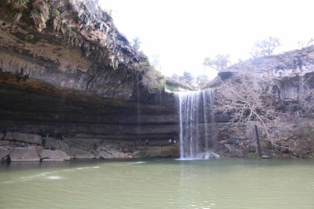 Hamilton_Pool_225_03122016 - Unobstructed view looking directly across the Hamilton Pool towards its waterfall from the beach area