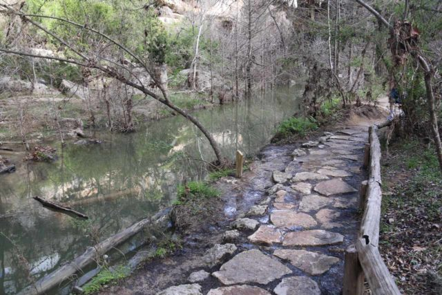 Hamilton_Pool_243_03122016 - This section of the trail to the Hamilton Pool skirted along Hamilton Creek, which might have been flooded and caused a delayed opening time on the day of our March 2016 visit