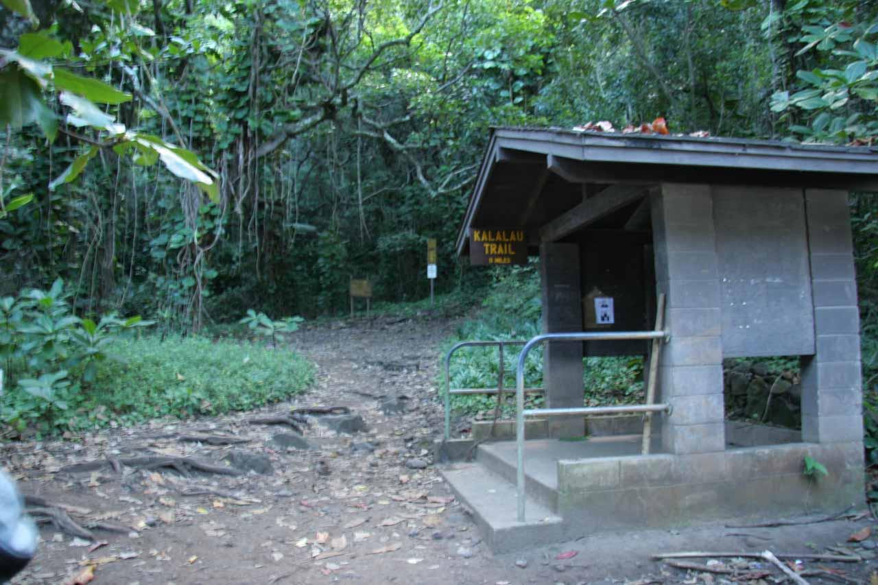 Trailhead for Kalalau Trail