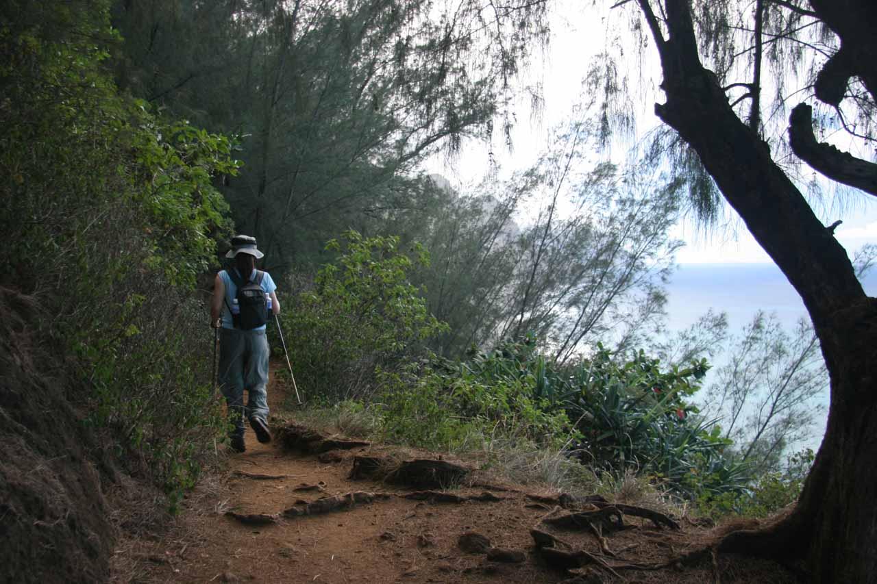 Julie on the Kalalau Trail