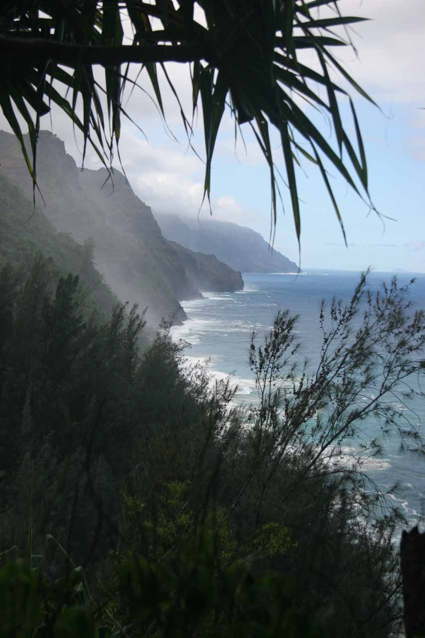 Looking ahead at some dramatic coastlines of the Na Pali Coast