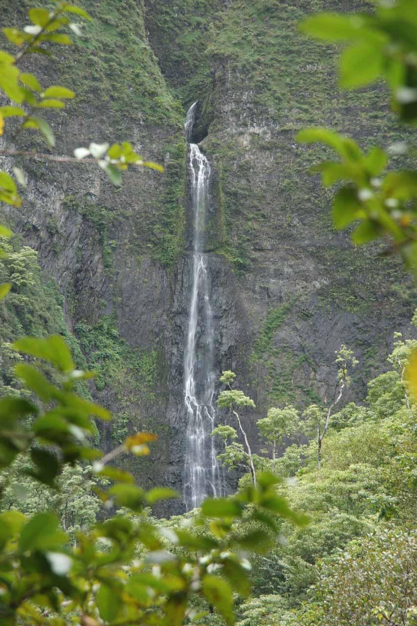 Hanakapiai Falls from a distance